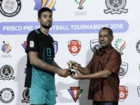 Ahmed Shaaheen (jersey no. 13, Male Prison) awarded player of the match